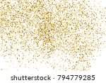 gold glitter texture isolated... | Shutterstock .eps vector #794779285