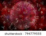 mysticism and zodiac signs | Shutterstock . vector #794779555