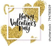 happy valentine's day greeting... | Shutterstock .eps vector #794780839