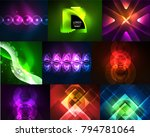set of abstract backgrounds... | Shutterstock .eps vector #794781064