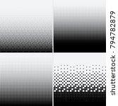 halftone dots on white... | Shutterstock .eps vector #794782879