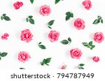 flowers composition. pattern... | Shutterstock . vector #794787949