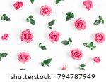 flowers composition. pattern... | Shutterstock . vector #794787949