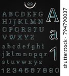 metal art alphabet | Shutterstock .eps vector #794790037