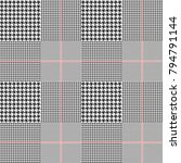 glen plaid check in classic... | Shutterstock . vector #794791144