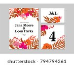 floral illustration for... | Shutterstock .eps vector #794794261