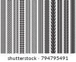 tire tracks of various vehicles | Shutterstock .eps vector #794795491
