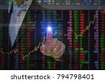 financial brokers and business... | Shutterstock . vector #794798401