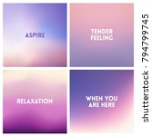 abstract vector purple blurred... | Shutterstock .eps vector #794799745