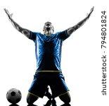 one caucasian soccer player man ... | Shutterstock . vector #794801824