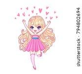 cute vector illustration.... | Shutterstock .eps vector #794802694