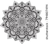 black and white mandala vector... | Shutterstock .eps vector #794807494