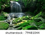 A Large Rain Forest Waterfall...