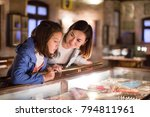 young mother and daughter... | Shutterstock . vector #794811961