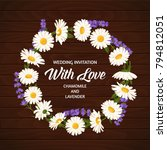 colorful wedding wreath with... | Shutterstock .eps vector #794812051
