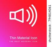 high volume loudspeaker red and ... | Shutterstock .eps vector #794814061
