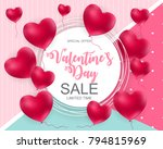 valentines day sale  discount... | Shutterstock .eps vector #794815969