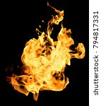 fire  red and orange texture on ... | Shutterstock . vector #794817331