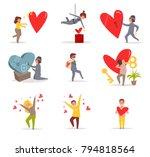valentine's day. vector.... | Shutterstock .eps vector #794818564