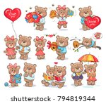 cute bears couples spend... | Shutterstock .eps vector #794819344