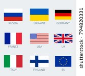 icons set of various country's... | Shutterstock .eps vector #794820331