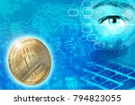 digital money and... | Shutterstock . vector #794823055