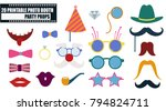 colorful photo booth props icon ... | Shutterstock .eps vector #794824711