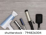 hairstyling products for... | Shutterstock . vector #794826304