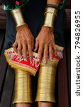 the last ring ladies in sarawak ...   Shutterstock . vector #794826955