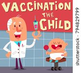 vaccination of the child.... | Shutterstock .eps vector #794829799