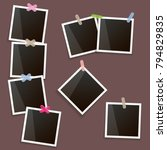 set of vintage photo frame with ... | Shutterstock .eps vector #794829835