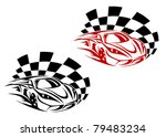 Racing cars and symbols for sports or tattoo design, such a logo. Jpeg version also available in gallery - stock vector