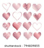 vector collections of rose gold ... | Shutterstock .eps vector #794839855