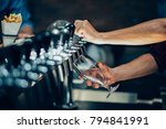 cropped view of bartender using ... | Shutterstock . vector #794841991