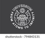 it's an astronaut holding... | Shutterstock .eps vector #794843131