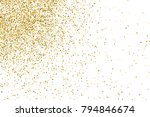 gold glitter texture isolated... | Shutterstock .eps vector #794846674