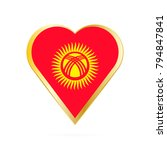 flag of kyrgyzstan in the shape ... | Shutterstock .eps vector #794847841