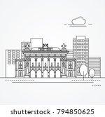 linear illustration of vienna ... | Shutterstock .eps vector #794850625