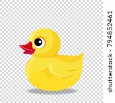 cute yellow rubber or plastic...   Shutterstock .eps vector #794852461