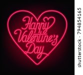 happy valentines day text.... | Shutterstock .eps vector #794854165