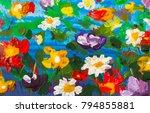 original handmade abstract oil... | Shutterstock . vector #794855881