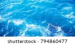 Background Image Of Aqua Sea...