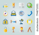 icon set about real assets.... | Shutterstock .eps vector #794871031