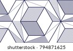 geometric cubes abstract... | Shutterstock .eps vector #794871625