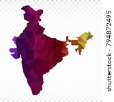 map polygonal india map.... | Shutterstock .eps vector #794872495