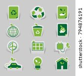 icon environmental and eco... | Shutterstock .eps vector #794876191