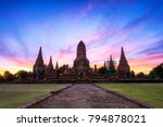 old temple ayuthaya thailand ...   Shutterstock . vector #794878021