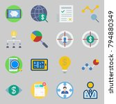 icons set about marketing. with ... | Shutterstock .eps vector #794880349