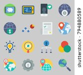 icons set about marketing. with ... | Shutterstock .eps vector #794880589