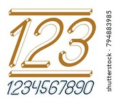 trendy vintage vector digits ... | Shutterstock .eps vector #794883985